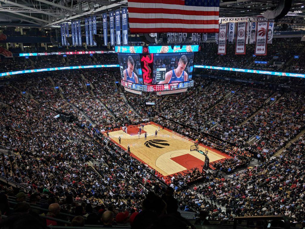 Raptors stadium in Toronto